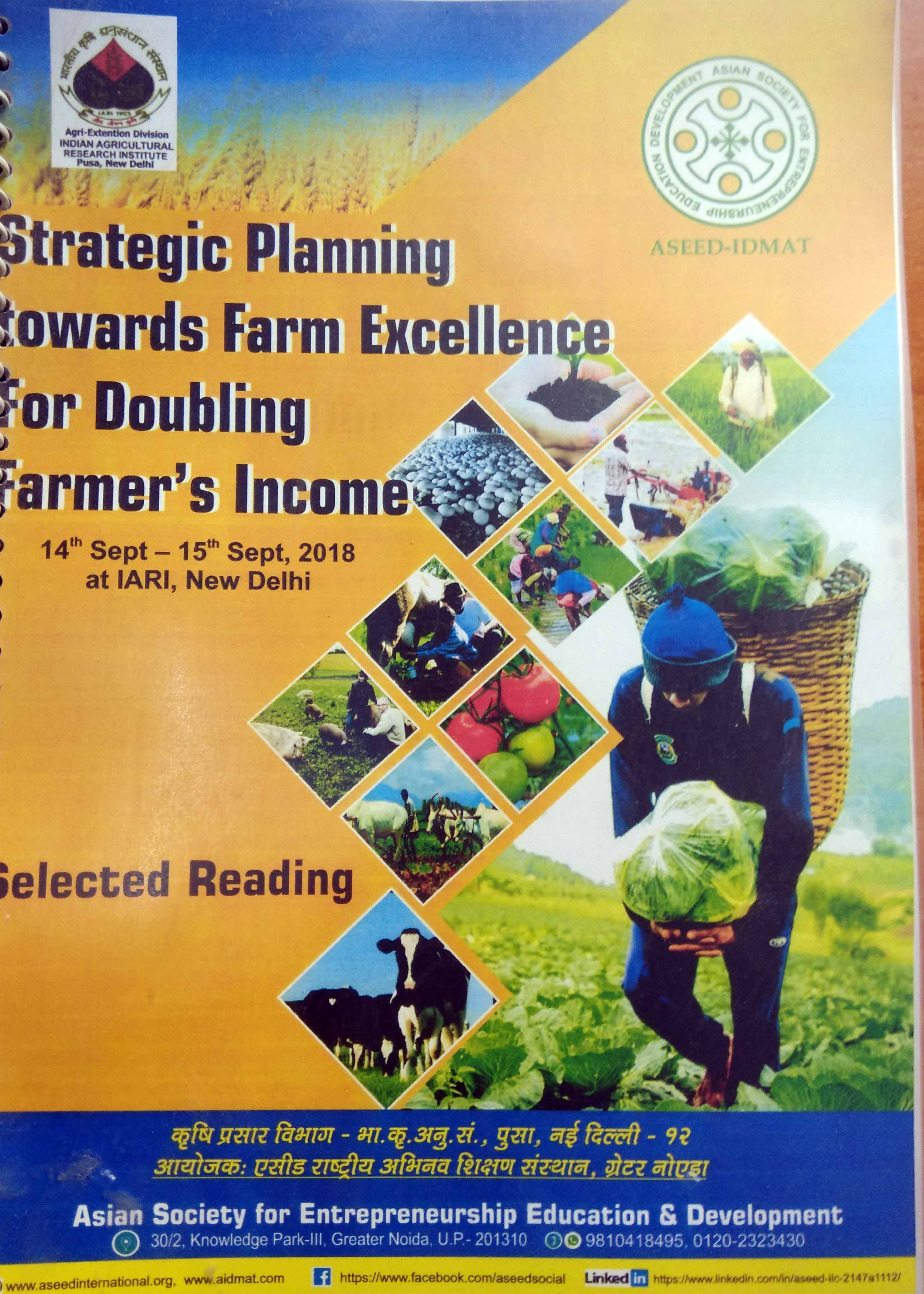 Strategic Planning-Doubling Farmer's Income